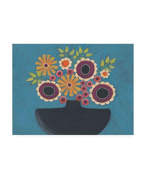 "Trademark Global Regina Moore Flowers Galore III Canvas Art - 15.5"" x 21"""