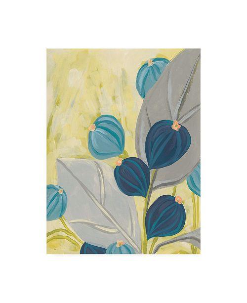 "Trademark Global June Erica Vess Navy & Citron Floral I Canvas Art - 15.5"" x 21"""