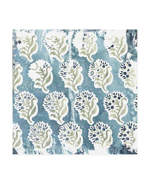 "Trademark Global June Erica Vess Flower Stone Tile II Canvas Art - 19.5"" x 26"""