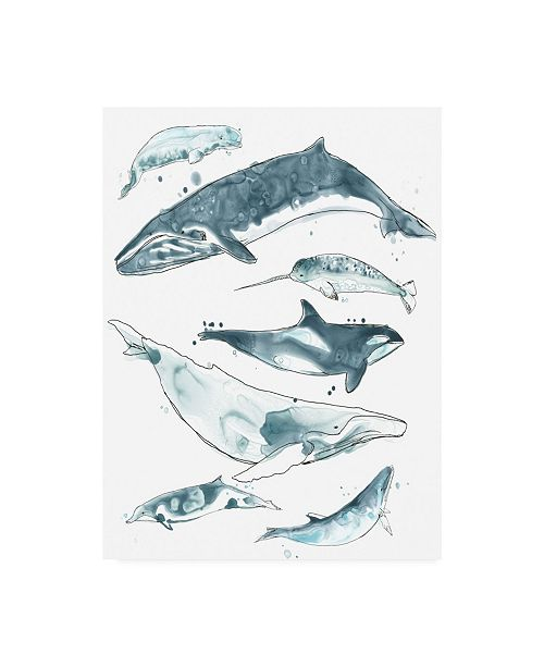 "Trademark Global June Erica Vess Cetacea I Canvas Art - 15.5"" x 21"""