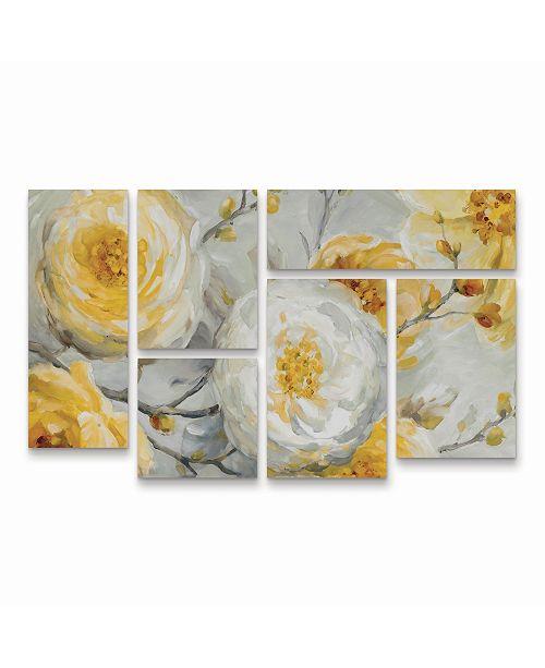"Trademark Global Lisa Audit Sunshine Multi Panel Art Set 6 Piece - 49"" x 19"""