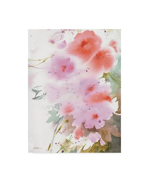 "Trademark Global Sheila Golden Cascade in Pinks Canvas Art - 37"" x 49"""