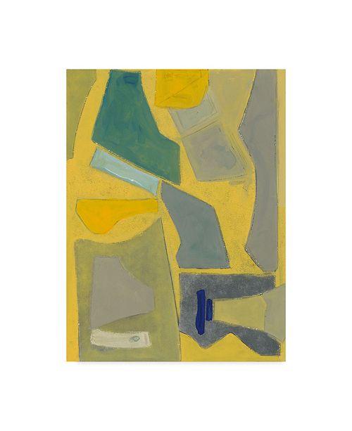 "Trademark Global Rob Delamater Equinox Blue Canvas Art - 37"" x 49"""