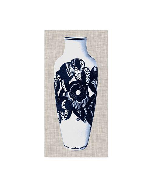 "Trademark Global Unknown Blue & White Vase III Canvas Art - 37"" x 49"""