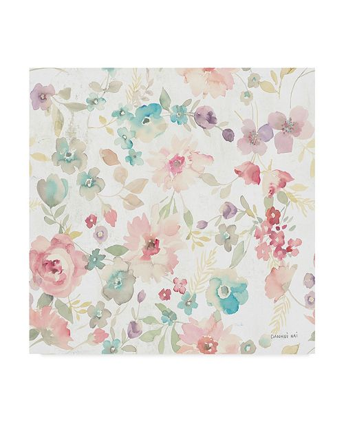 "Trademark Global Danhui Nai June Blooms Pattern I Canvas Art - 15"" x 20"""