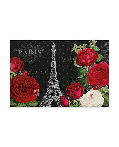 "Trademark Global Katie Pertiet Rouge Paris I Black Canvas Art - 37"" x 49"""