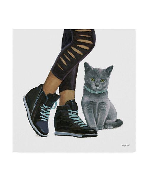 "Trademark Global Emily Adams Cutie Kitties V Canvas Art - 27"" x 33"""