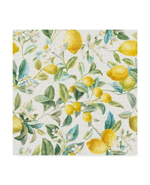 "Trademark Global Danhui Nai Floursack Lemon Pattern Ia Canvas Art - 27"" x 33"""
