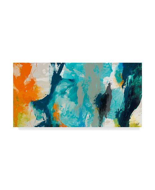 "Trademark Global Sisa Jasper Tidal Abstract II Canvas Art - 37"" x 49"""