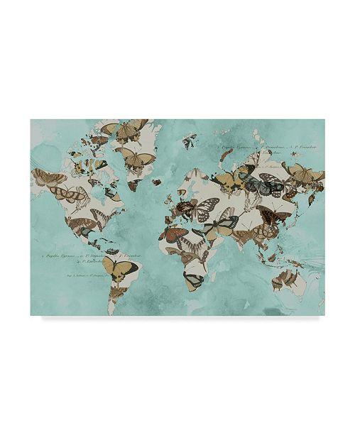 """Trademark Global Jennifer Goldberger Migration of Butterflies Canvas Art - 37"""" x 49"""""""