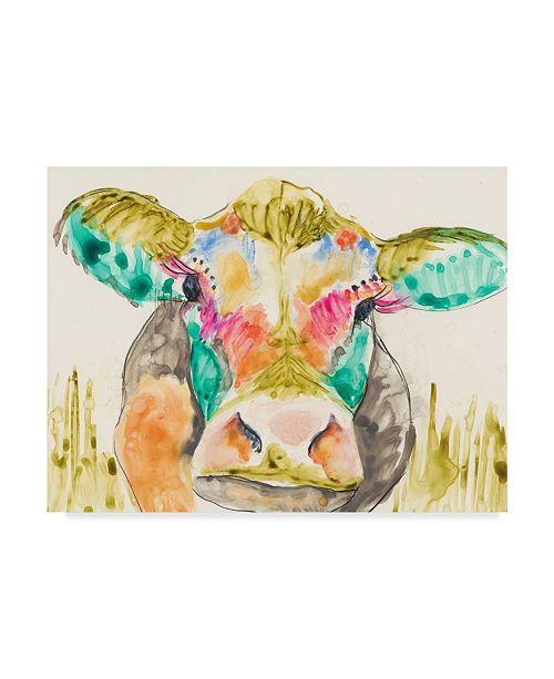 "Trademark Global Jennifer Goldberger Hifi Cow I Canvas Art - 37"" x 49"""