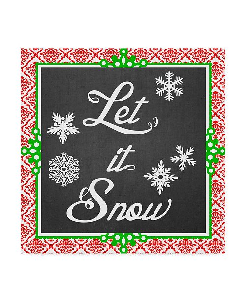 "Trademark Global June Erica Vess Let it Snow Type II Canvas Art - 15"" x 20"""