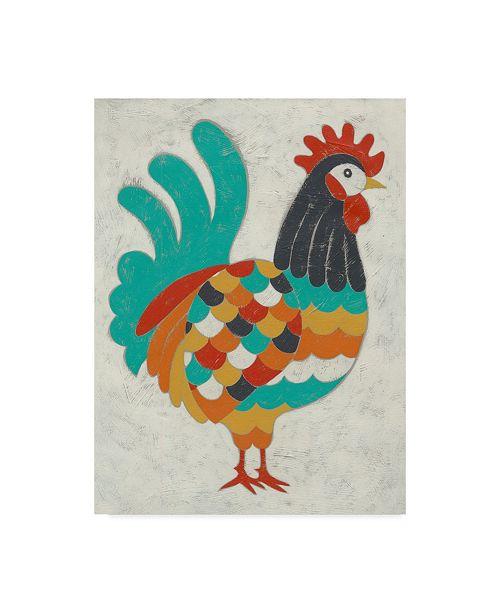 "Trademark Global Chariklia Zarris Country Chickens I Canvas Art - 37"" x 49"""