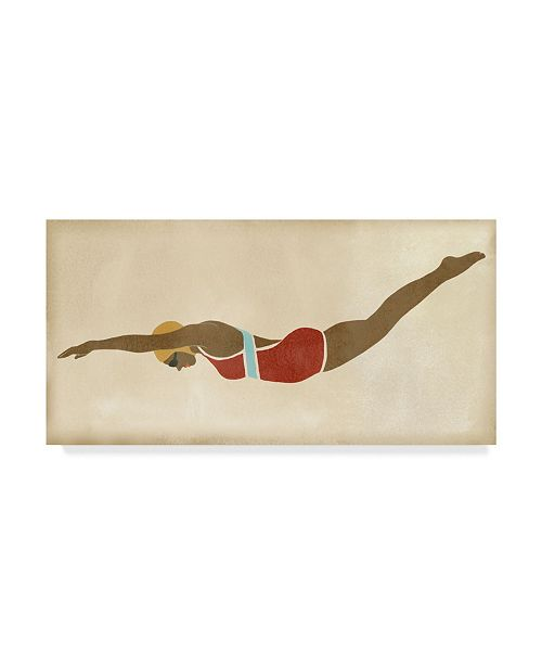 """Trademark Global June Erica Vess Vintage Diver II Canvas Art - 20"""" x 25"""""""