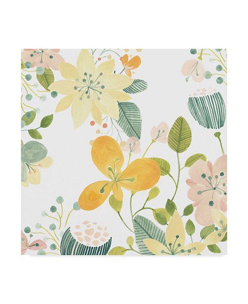 """Trademark Global June Erica Vess Garden Galore II Canvas Art - 27"""" x 33"""""""