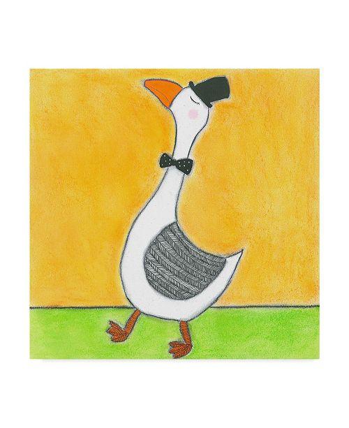 "Trademark Global Tatijana Lawrence Super Animal Gander Canvas Art - 27"" x 33"""