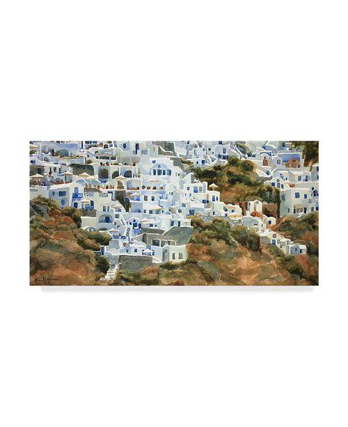 "Trademark Global Edie Fagan Santorini Hillside I Canvas Art - 20"" x 25"""