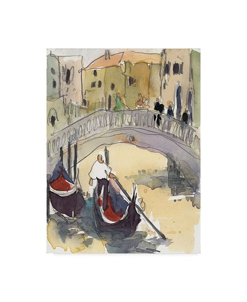 "Trademark Global Samuel Dixon Venice Plein Air III Canvas Art - 37"" x 49"""