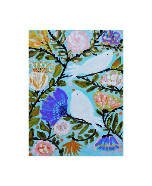 "Trademark Global Karen Fields Sweet Love Birds II Canvas Art - 20"" x 25"""