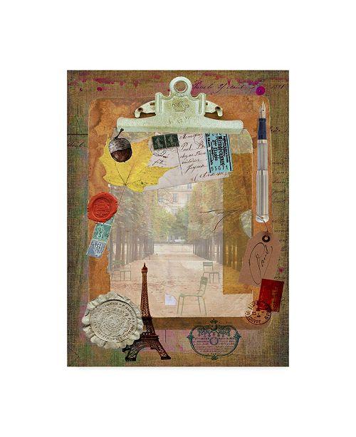 """Trademark Global Sandy Lloyd Collected Autumn III Canvas Art - 37"""" x 49"""""""