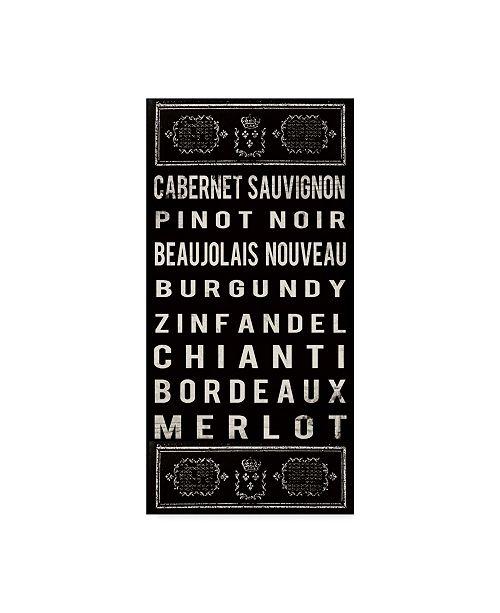 "Trademark Global Sandy Lloyd Red Wine on Black Canvas Art - 20"" x 25"""