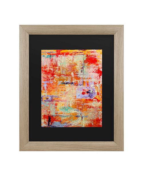 "Trademark Global Pat Saunders-White Odessy Matted Framed Art - 37"" x 49"""