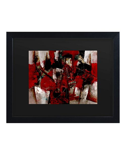 """Trademark Global Masters Fine Art Abstract IV Matted Framed Art - 15"""" x 20"""""""