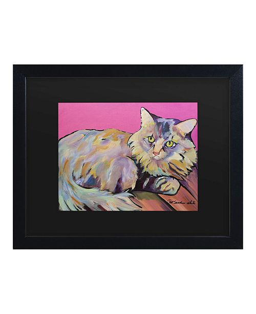 "Trademark Global Pat Saunders-White Catatonic Matted Framed Art - 15"" x 20"""