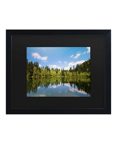 "Trademark Global Philippe Sainte-Laudy Lake Maix Matted Framed Art - 15"" x 20"""