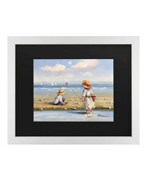 "Trademark Global Masters Fine Art at the Beach III Matted Framed Art - 20"" x 25"""