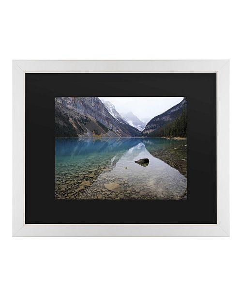 "Trademark Global Pierre Leclerc Lake Louise Matted Framed Art - 20"" x 25"""