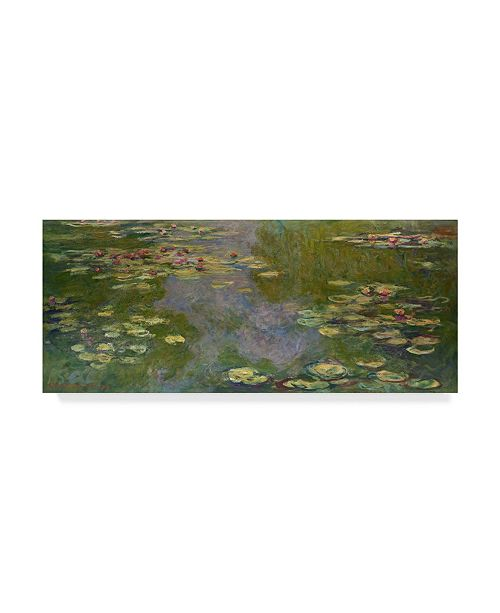 "Trademark Global Claude O. Monet Water Lilies I Canvas Art - 37"" x 49"""
