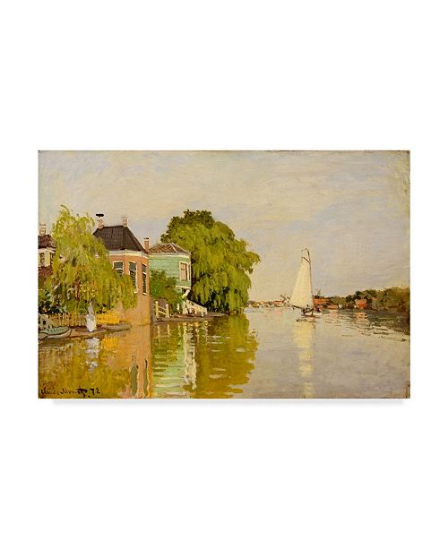 """Trademark Global Claude O. Monet Houses on the Achterzaan Clouds Canvas Art - 15"""" x 20"""""""