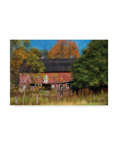 "Trademark Global Lois Bryan Red Barn in October Canvas Art - 15"" x 20"""