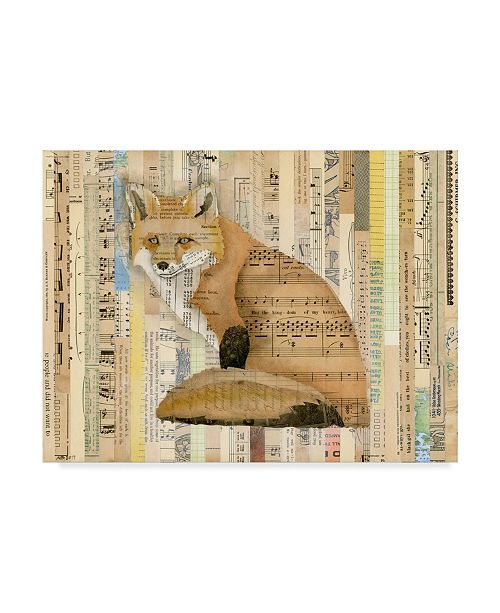 "Trademark Global Nikki Galapon Red Fox Collage II Canvas Art - 20"" x 25"""
