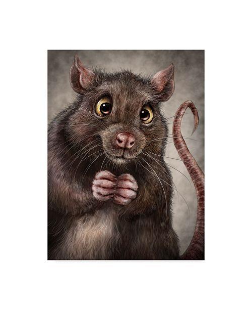 "Trademark Global Patrick Lamontagne Rat Totem Canvas Art - 15"" x 20"""