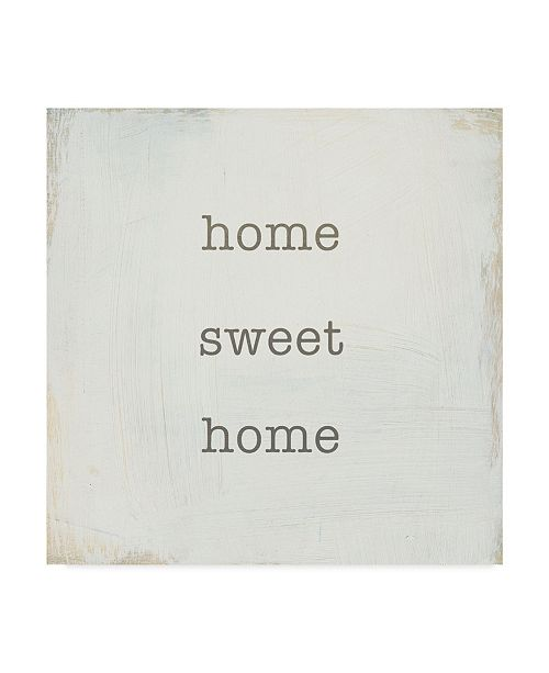 "Trademark Global Wild Apple Portfolio Home Sweet Home I Canvas Art - 20"" x 25"""