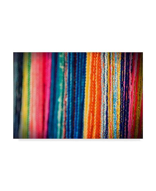 "Trademark Global Pixie Pics Colorful Textiles Canvas Art - 15"" x 20"""