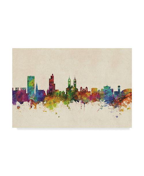 "Trademark Global Michael Tompsett Winterthur Switzerland Skyline Canvas Art - 15"" x 20"""