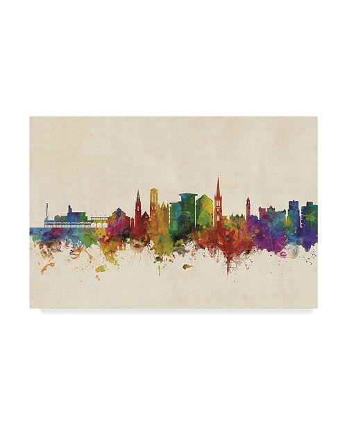 "Trademark Global Michael Tompsett Bournemouth England Skyline Canvas Art - 20"" x 25"""