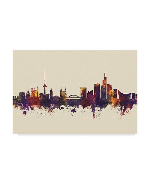 "Trademark Global Michael Tompsett Vilnius Lithuania Skyline III Canvas Art - 20"" x 25"""
