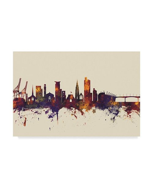 "Trademark Global Michael Tompsett Southampton England Skyline III Canvas Art - 37"" x 49"""