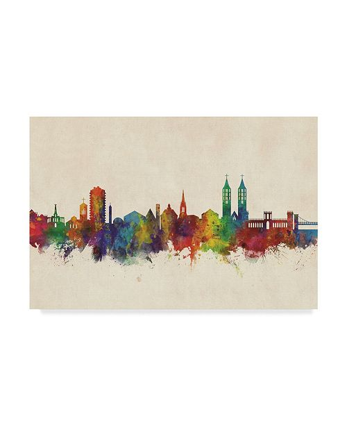 "Trademark Global Michael Tompsett Kassel Germany Skyline Canvas Art - 15"" x 20"""
