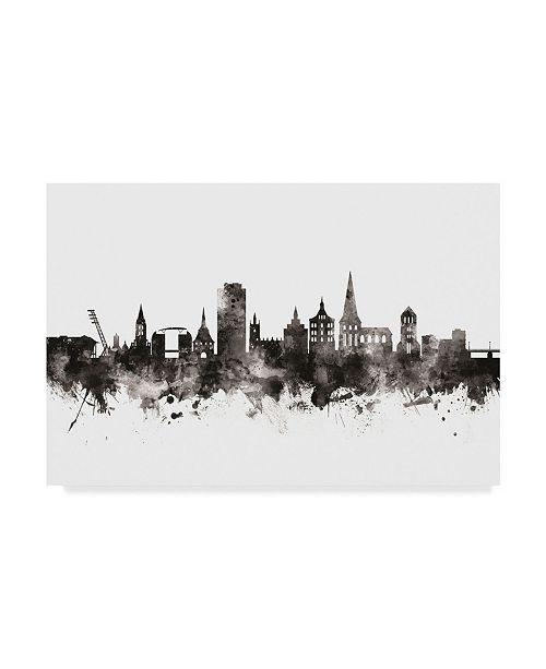 """Trademark Global Michael Tompsett Rostock Germany Skyline Black White Canvas Art - 20"""" x 25"""""""