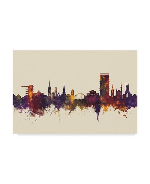 "Trademark Global Michael Tompsett Cheltenham England Skyline III Canvas Art - 20"" x 25"""