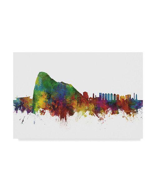 "Trademark Global Michael Tompsett Gibraltar Skyline II Canvas Art - 15"" x 20"""