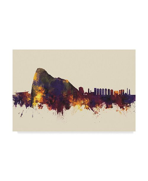 "Trademark Global Michael Tompsett Gibraltar Skyline III Canvas Art - 20"" x 25"""