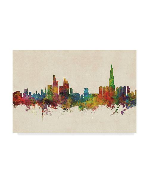 "Trademark Global Michael Tompsett Ho Chi Minh City (Saigon) Vietnam Skyline Canvas Art - 37"" x 49"""