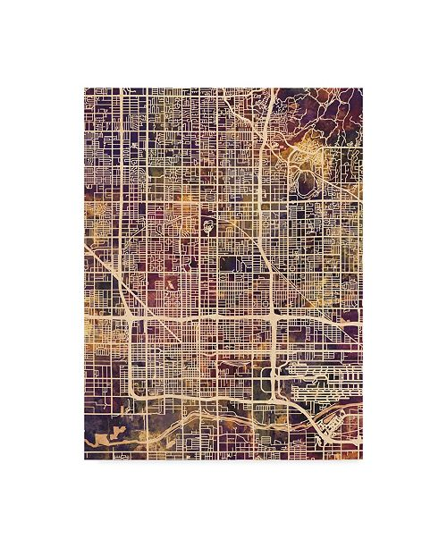 "Trademark Global Michael Tompsett Phoenix Arizona City Map II Canvas Art - 20"" x 25"""