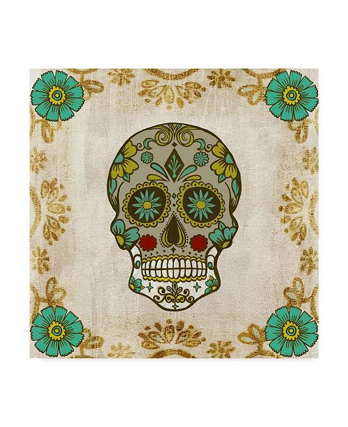 """Trademark Global Melissa Wang Ornate Day of the Dead I Canvas Art - 15"""" x 20"""""""